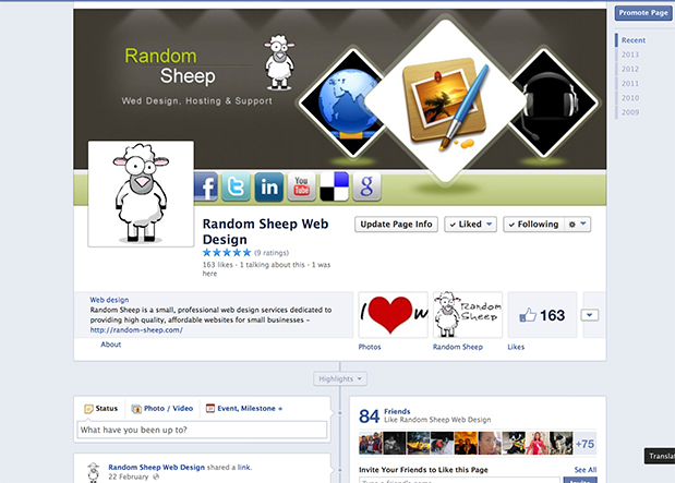 Facebook Announces A Streamlined Look for Pages| Random Sheep Web